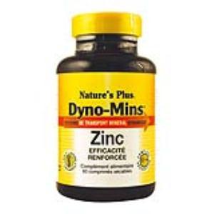 DYNO-MINS ZINC 15mg. 60 comp. de NATURES PLUS