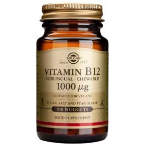 VITAMINA B12 cianocobalamina 1000mcg. 100comp.mast de SOLGAR