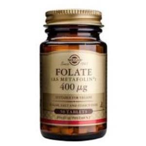 FOLATO (como metafolin) 400mcg. 100comp. de SOLGAR