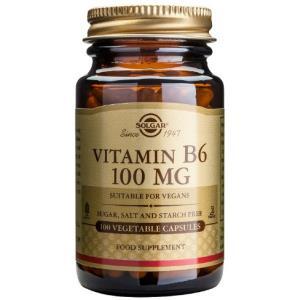 VITAMINA B6 100mg.(piridoxina) 100cap.veg. de SOLGAR