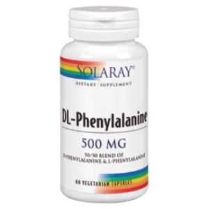 DL-PHENYLALANINE 500mg. 60cap.veg de SOLARAY